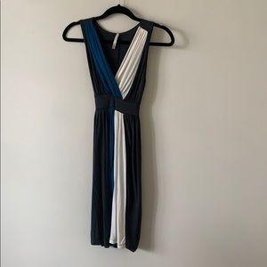 I.ner Colour Block Strapless Dress Grey XSmall